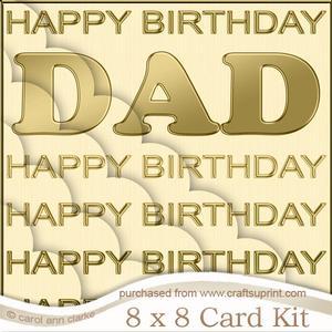 8 x 8 Birthday Dad Scalloped Corner Kit
