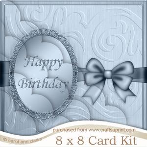 8 x 8 Birthday Kit with Scalloped Corners
