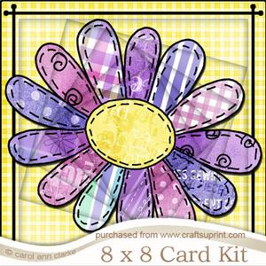 8 x 8 Patchwork Petals Twisted Tunnel Card Kit