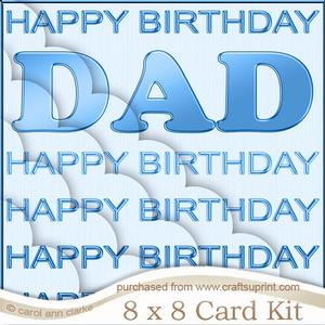 8 x 8 Dad Birthday Kit with Scalloped Corners