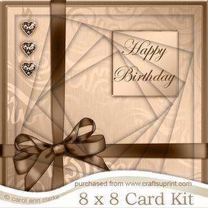 8 x 8 Elegant Flourish Twisted Tunnel Card Kit