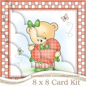 8 x 8 Rosie's Heart Kit with Scalloped Corners