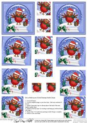 Xmas Robin Snowglobe Twisted Pyramage Sheet