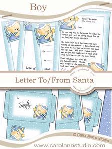 Boy's Letter from Santa Kit