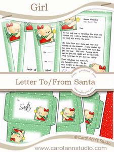Girl's Letter from Santa Kit