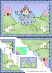 A5 Fairy Twinkletoes Scallop Corner Side Stacker