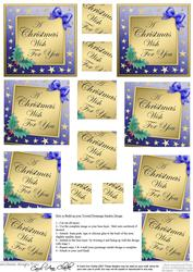 Elegant Christmas Greeting Twisted Pyramage Sheet