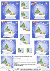 Xmas Tree Snowglobe Twisted Pyramage Sheet