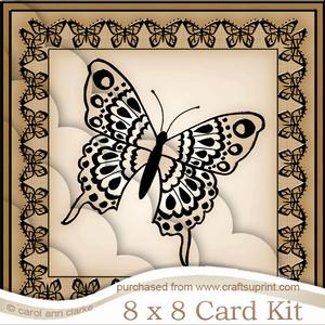 8 x 8 Big Butterfly Kit with Scalloped Corners