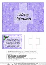 Christmas Message in Many Languages Swing Card
