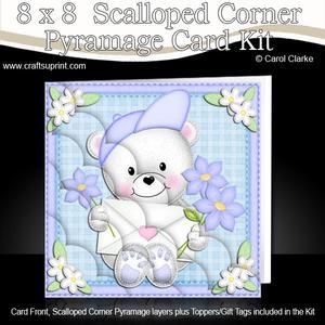 8 x 8 Teddy Ed's Love Letter Scalloped Corner Kit