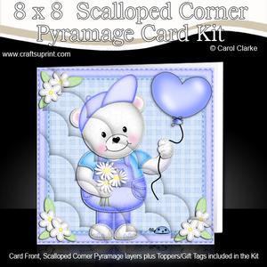 8 x 8 Teddy Ed's Balloon Scalloped Corner Kit