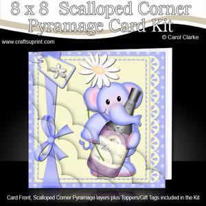 8 x 8 Elephant Lola's Champers Scalloped Corner Kit