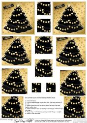 Xmas Tree Twisted Pyramage Sheet