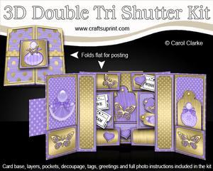 3D Perfumes Double Tri Shutter Card Kit