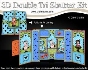 3D Gigi Horse and Friends Double Tri Shutter Card Kit