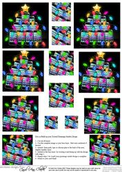 Fun Christmas Smart Phone Twisted Pyramage Sheet