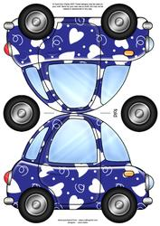 Funky Love Bug Car Shaped Card