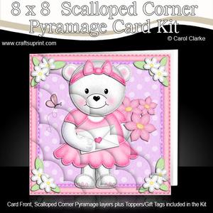 8 x 8 Teddy Tess's Love Letter Scalloped Corner Kit