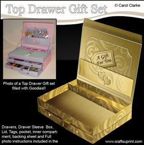 3D Metallic Swirls Top Drawer Gift Set Kit