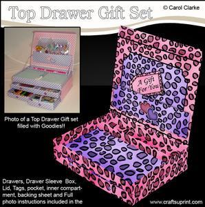 3D Animal Print Top Drawer Gift Set Kit