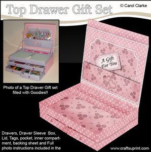 3D Pretty Floral Top Drawer Gift Set Kit