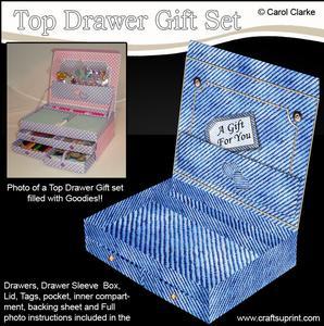 3D Denim Top Drawer Gift Set Kit