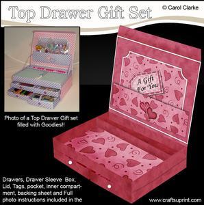 3D Pretty Romantic Hearts Top Drawer Gift Set Kit