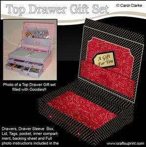 3D Stylish Spots and Swirls Top Drawer Gift Set Kit