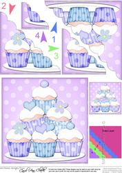 Cupcakes Felties Scallop Corner Side Stacker Topper