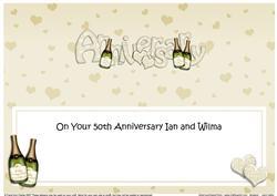 Golden Wedding Anniversary Large Dl Matching Large Dl Insert