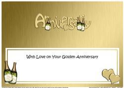 Golden Wedding Anniversary Large Dl Matching Insert