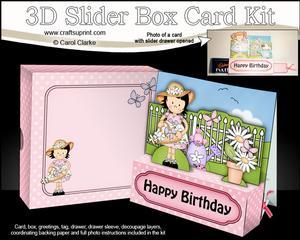 3D Girlz Suzi's Flower Basket Slider Box Card Kit