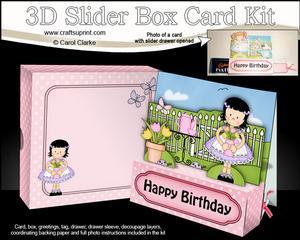 3D Girlz Suzi's Tulips Slider Box Card Kit