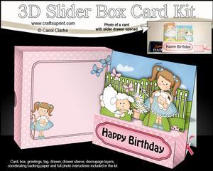 3D Girlz Liz's Little Lamb Slider Box Card Kit