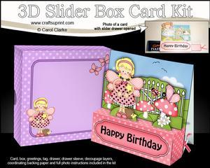 3D Girlz Fiz Fairy Slider Box Card Kit