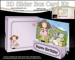 3D Girlz Zoe's Love Letter Slider Box Card Kit