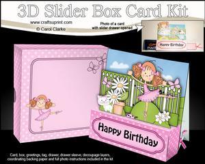 3D Girlz Betzi Ballerina Slider Box Card Kit