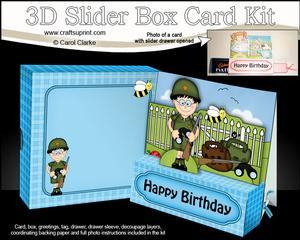 3D Boyz General Gazza Slider Box Card Kit