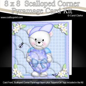 8 x 8 Teddy Ed's Easter Egg Scalloped Corner Kit