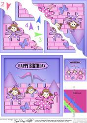 Birthday Fairy Castle Scallop Corner Side Stacker