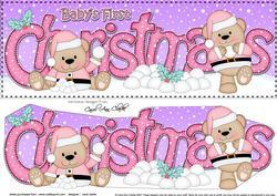 Large Dl Baby's 1st Christmas Livvy Bear 3D Decoupage