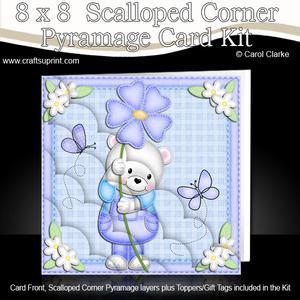 8 x 8 Teddy Ed's Flower Scalloped Corner Kit