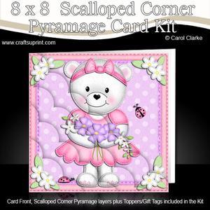 8 x 8 Teddy Tess's Flowers Scalloped Corner Kit