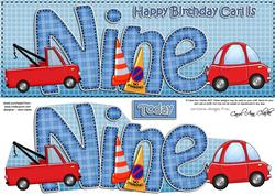 9th Birthday Carl Large Dl Quick Card N 3D Decoupage
