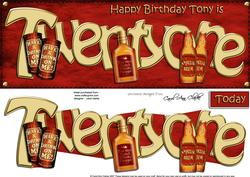 21st Birthday Tony Large Dl Quick Card N 3D Decoupage