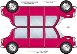 Large Dl Stretch Limo Shaped Card