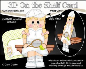 3D on the Shelf Card Kit - Little Tennis Boy Lexi