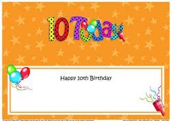 Large Dl 10th Birthday Celebrations Insert