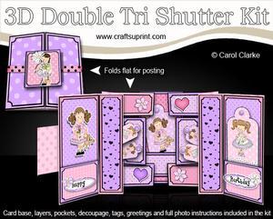 3D Girlz Double Tri Shutter Card Kit